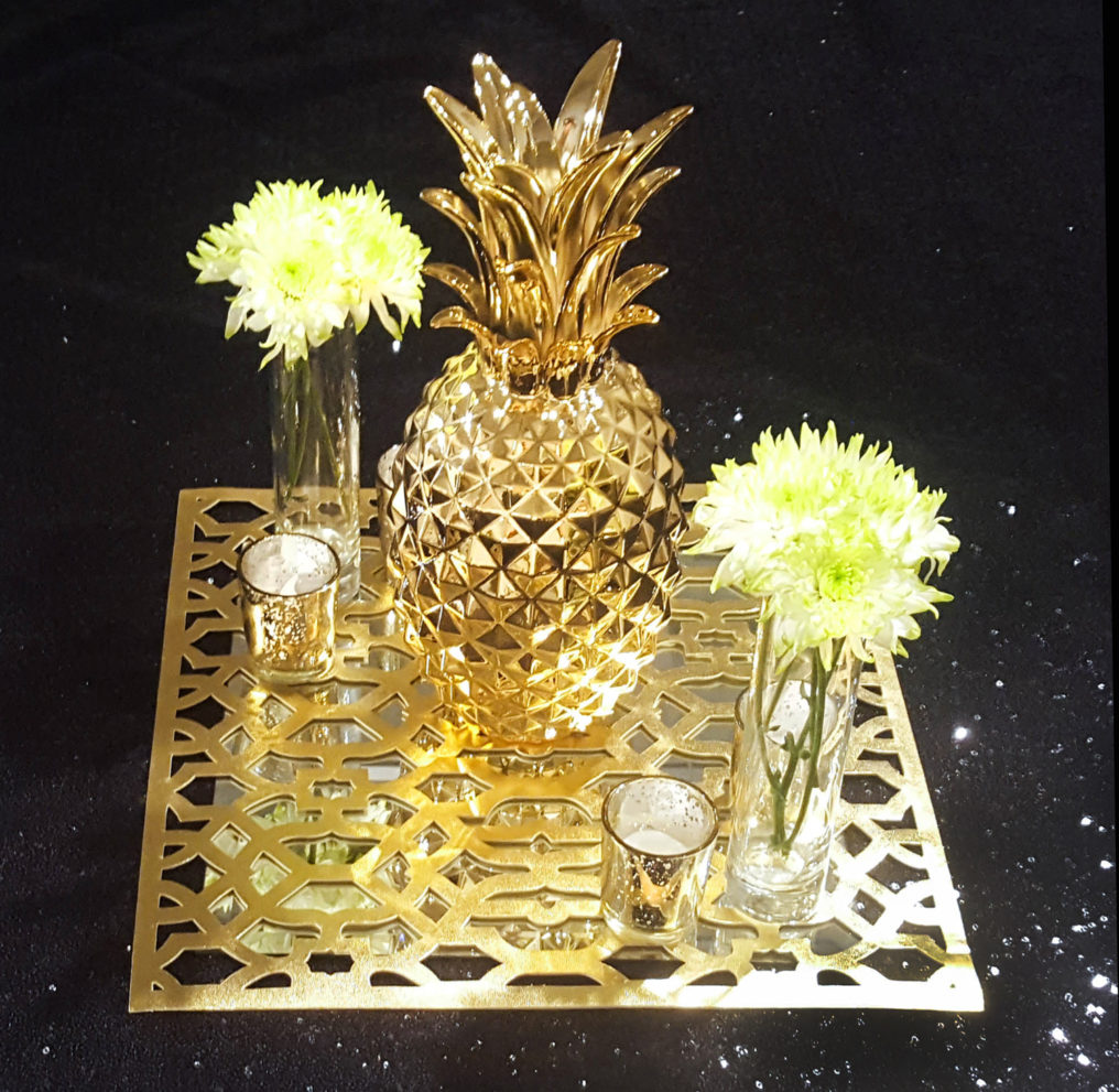 golden pineapple centerpiece