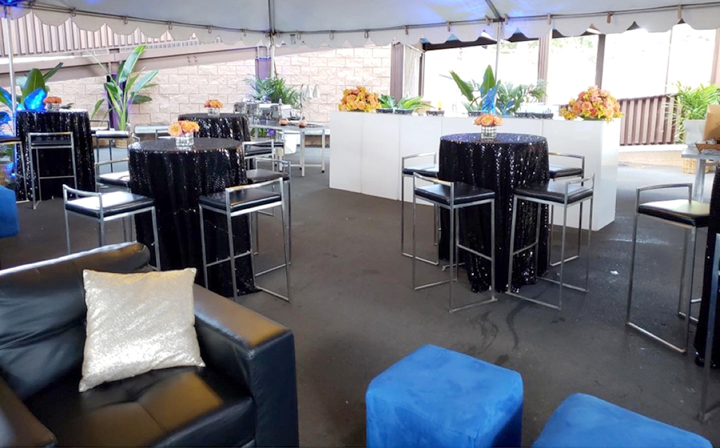 Cocktail tables and lounge furniture
