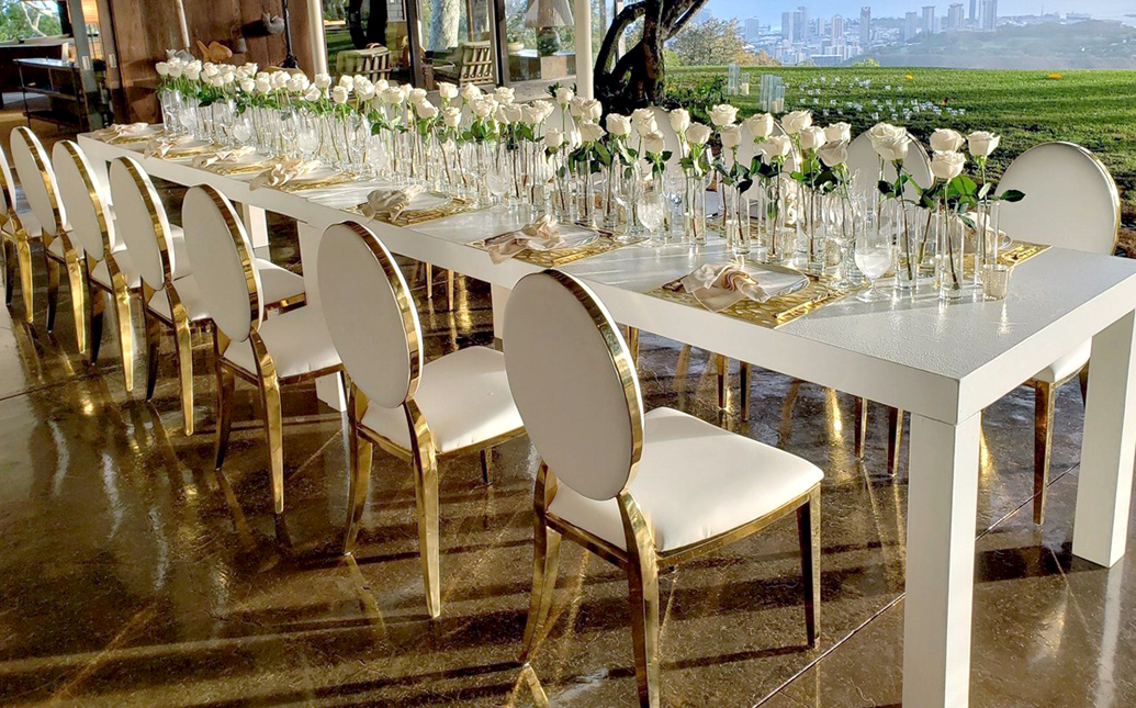 Outdoor Wedding Dining Table