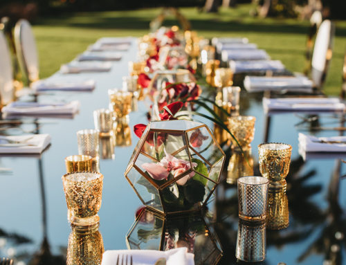 Adorn your tables with tabletop rentals for ambiance