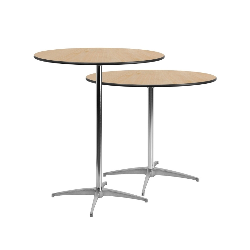30in round high top cocktail table