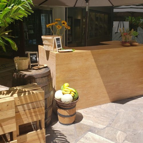 Natural Wood Bar