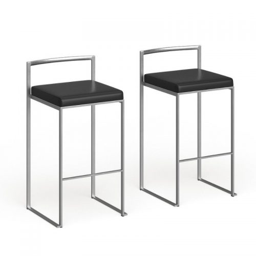 Bar Stool Black Fiji