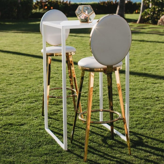 Bar Stool White and Gold Luxe2