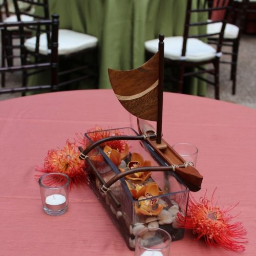 Tabletop Hawaiian Canoe Decoration