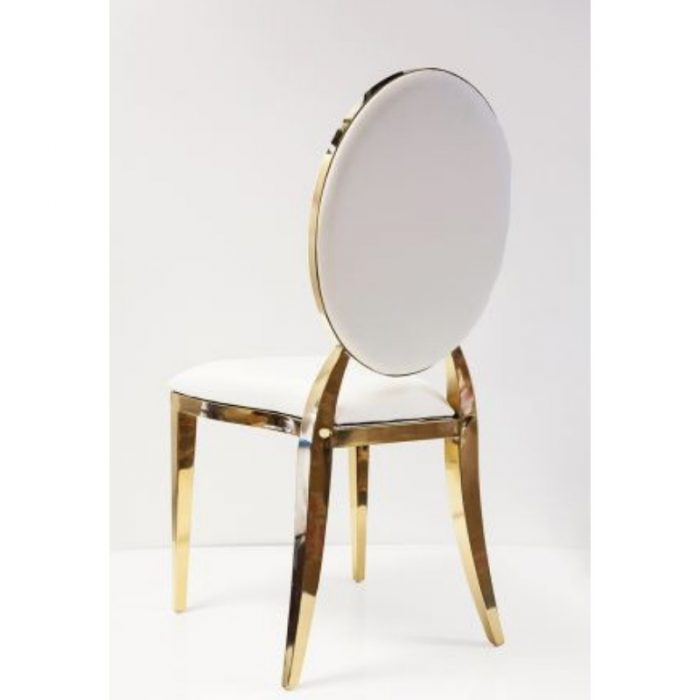 Chair White and Gold Luxe