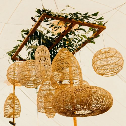 Bamboo Wicker Chandelier