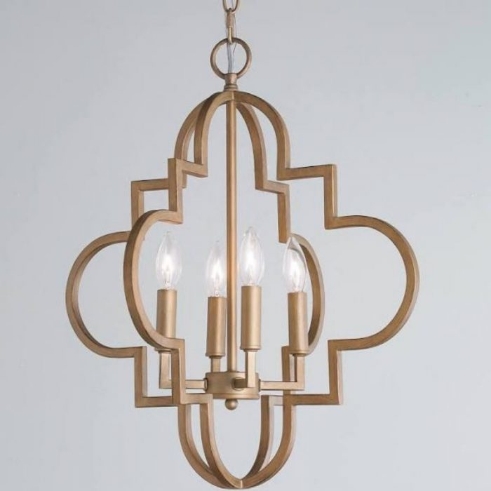 Gold Metal Chandelier