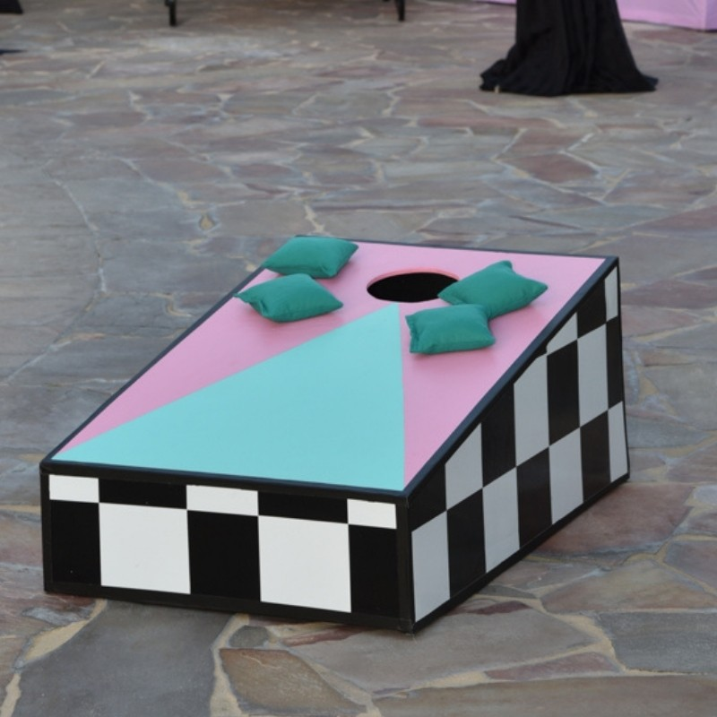 Cornhole Set Blue and Pink