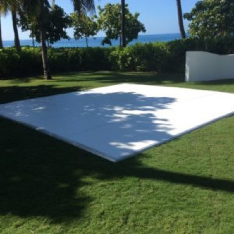 White Laminate Dance Floor