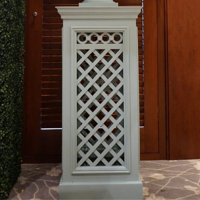 Lattice Pedestal Light Blue