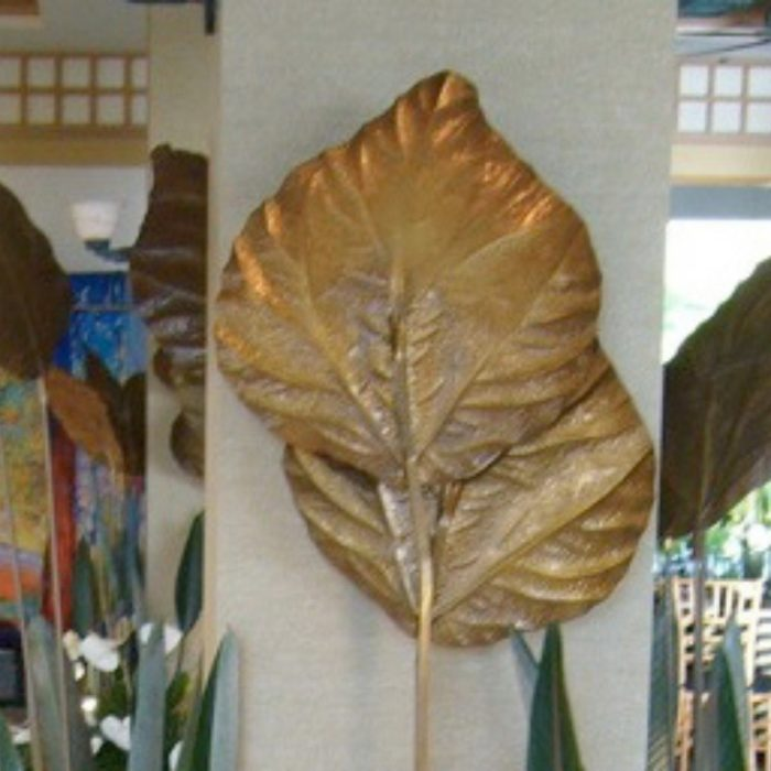 Gold Monstera Leaf