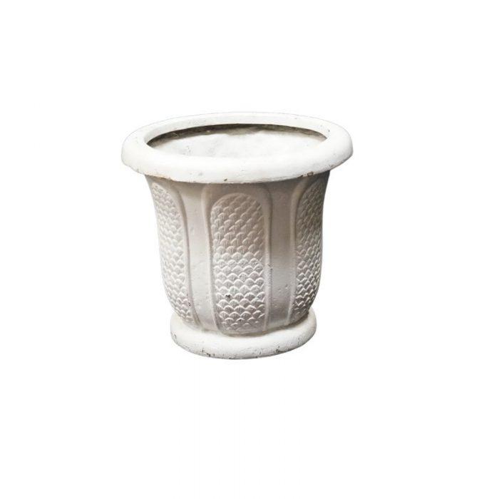 White Scallop Planter 17x18