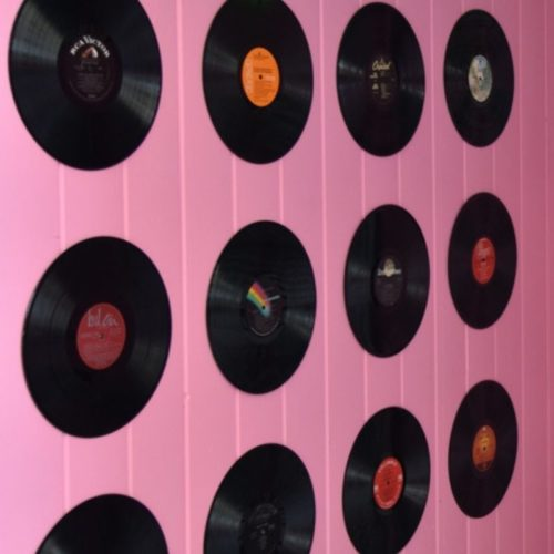 Vinyl Record on Wall