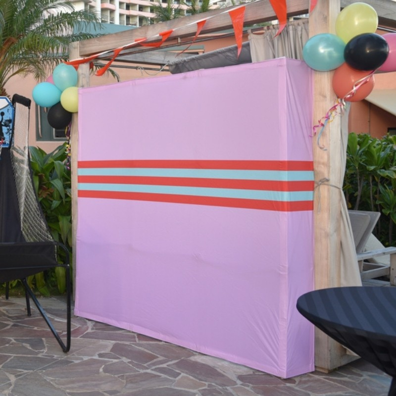 Screen Pink and Blue Stripe