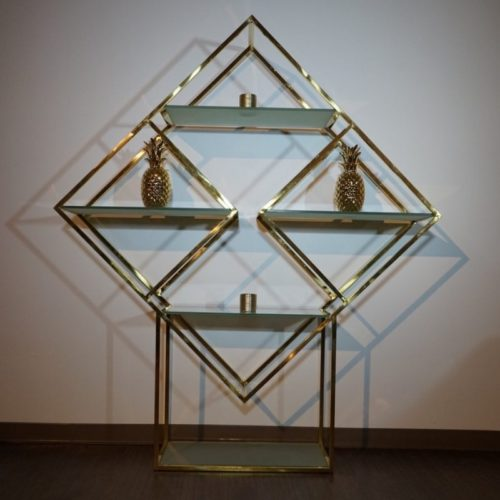 Diamond Shaped Gold Shelf