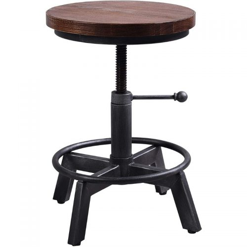 Stool Black Industrial
