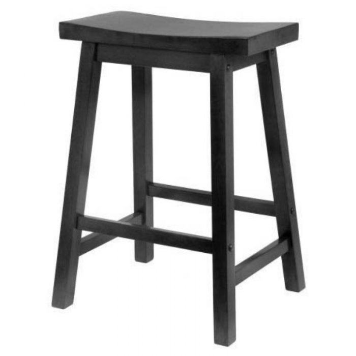 Stool Black Wood