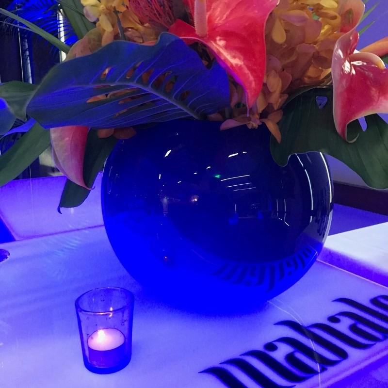 Vase Fish Bowl Blue Glass