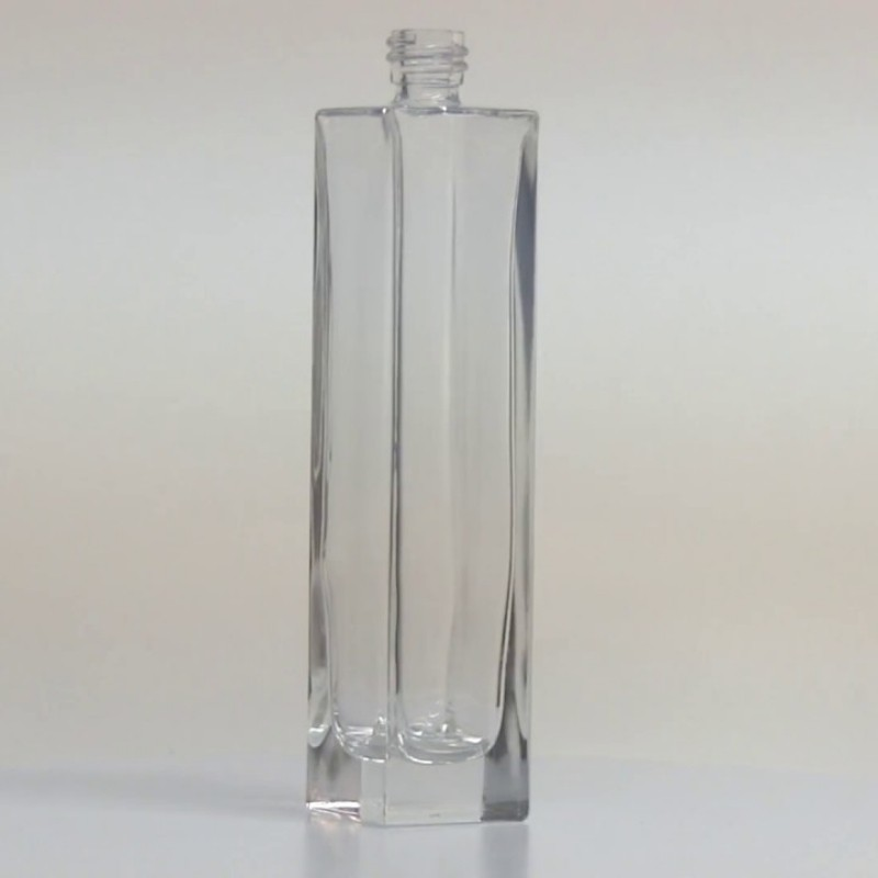 Clear Square Bottle