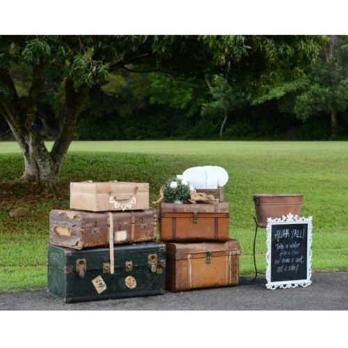 Assorted Vintage Trunks Luggage