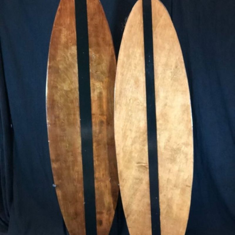 Brown Wood Surfboard decorative