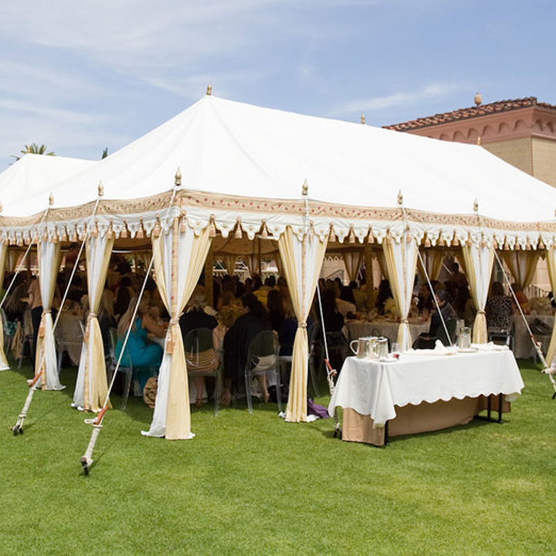 White Indian-style tent