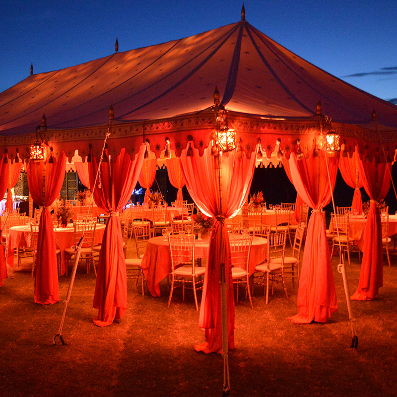 Maharaja Tent with red lighting