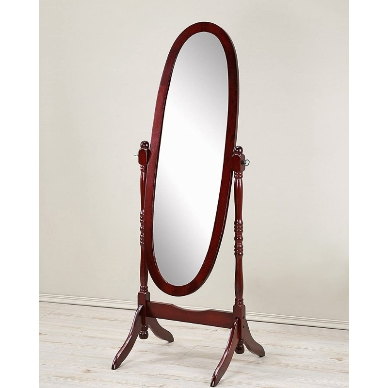 Free Standing Oval Mirror