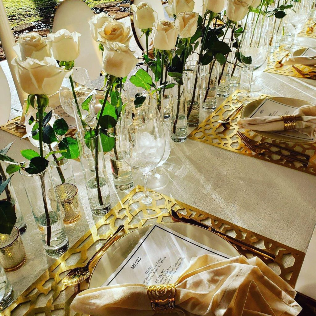 Gold Lattice Votives