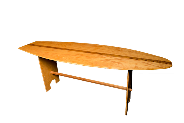 Exceptionnel Wood Surfboard Table
