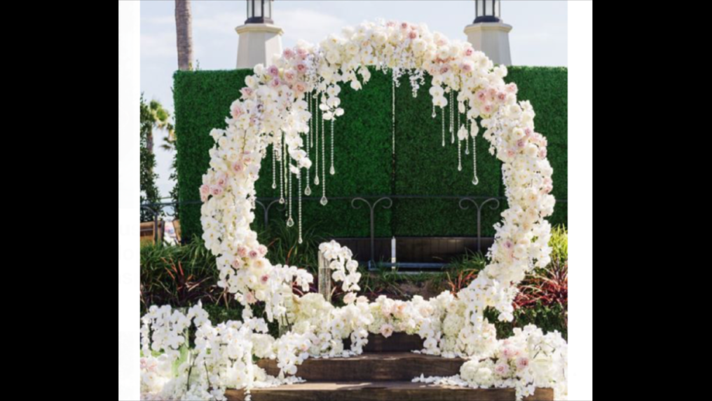 Round Arch with Flowers