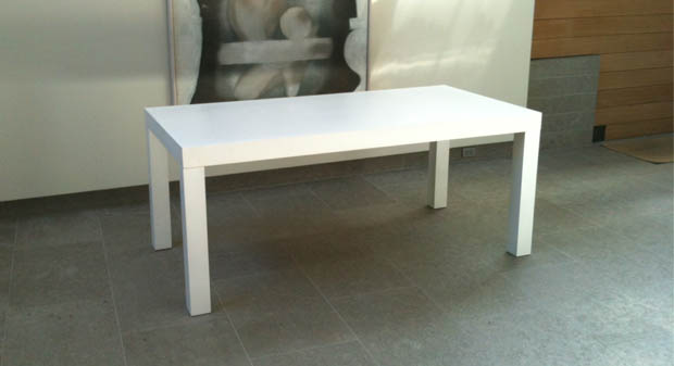 White Parsons Table Eventaccents